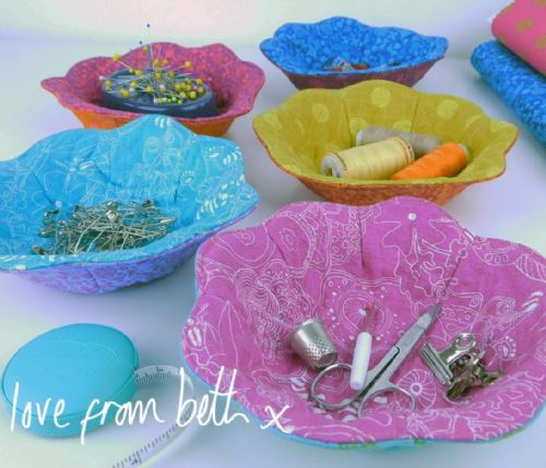 Love From Beth - Reversible Trinket Bowls Sewing Pattern
